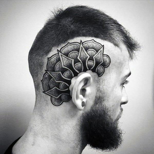 Geometric Dotwork Tattoo On Man