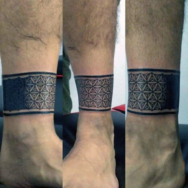 Flower Ankle Band Tattoos Flowers Healthy
