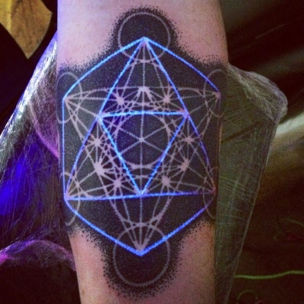 Geometric Glow In The Dark Mens Tattoo Ideas
