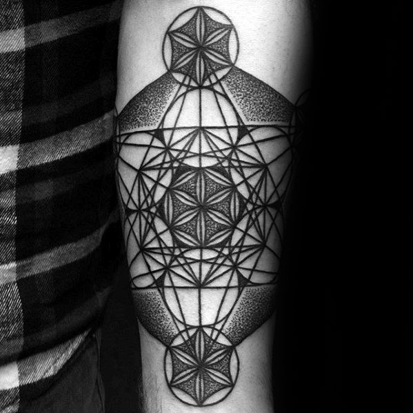 Geometric Inner Forearm Guys Tattoo Ideas