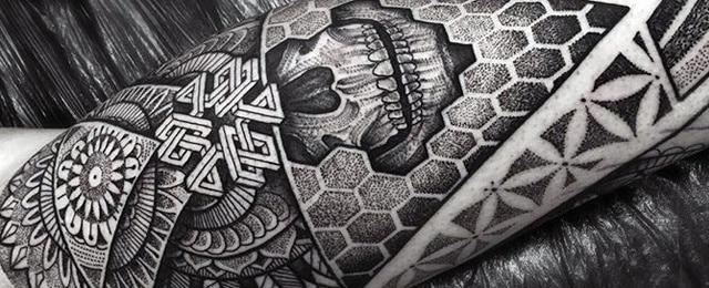 Geometric Leg Tattoos For Men