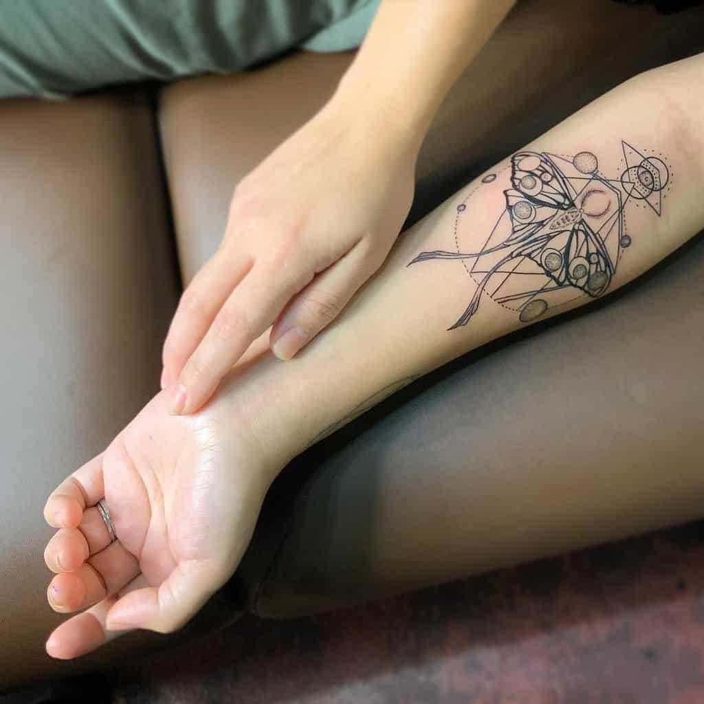 Geometric Luna Moth Tattoo Riverdawnrising
