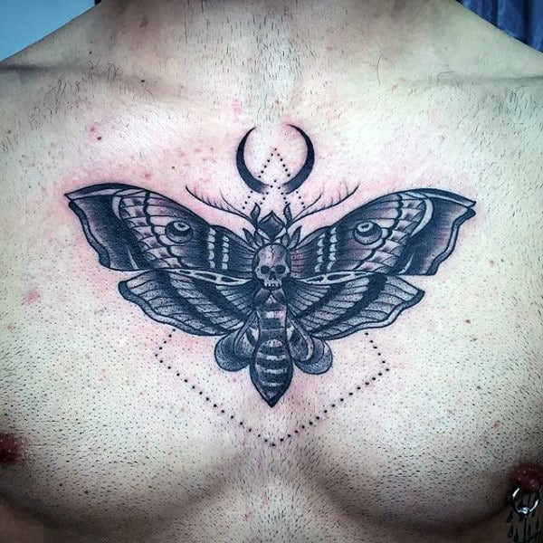 a2673bcf56df4 90 Moth Tattoos For Men - Nocturnal Insect Design Ideas
