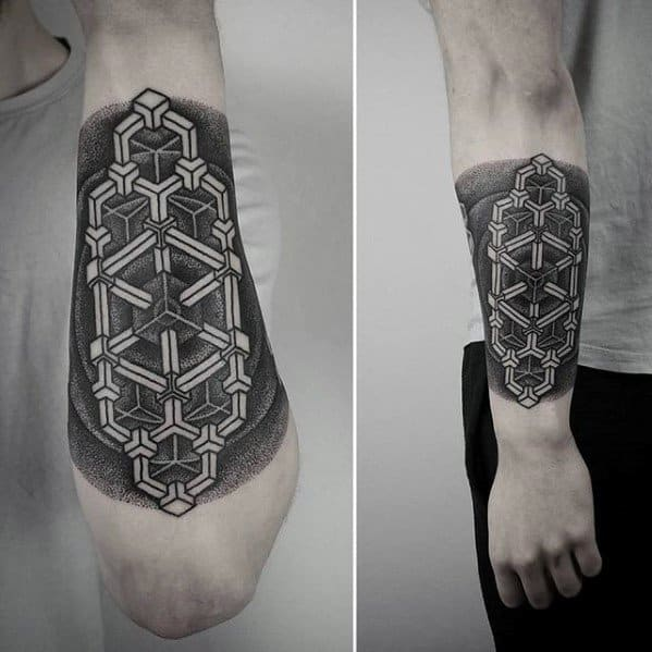 50 geometric forearm tattoo designs for men manly ideas. Black Bedroom Furniture Sets. Home Design Ideas