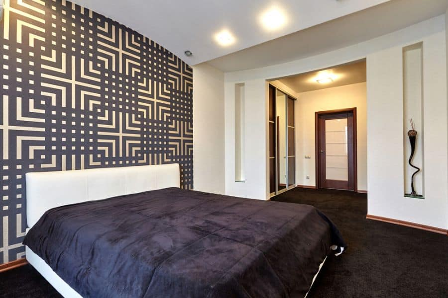 Geometric Pattern Accent Wall Ideas