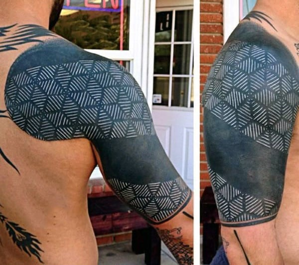 Geometric Shapes Half Sleeve Tattoo Ideas For Men
