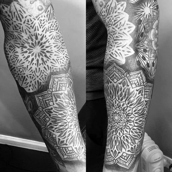 Geometric Sleeve Tattoos Guys