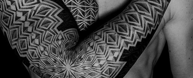 Geometric Tattoo Sleeve Designs For Men