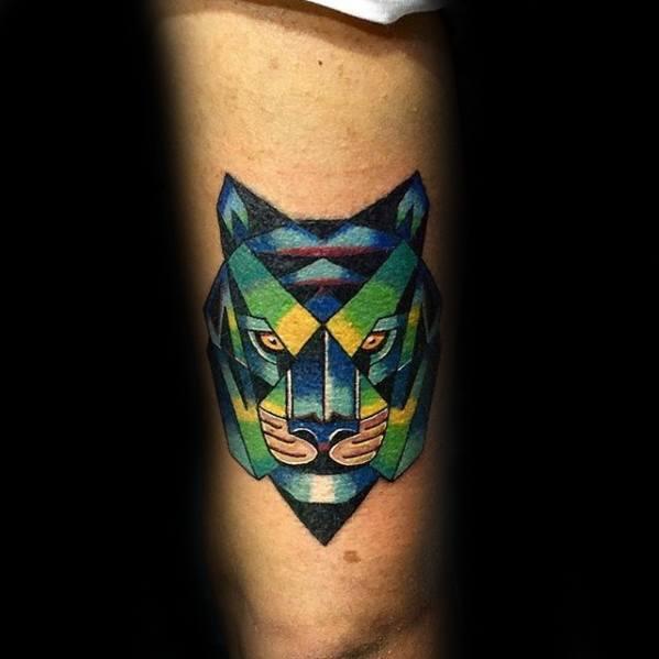 Geometric Tiger Tattoos Men