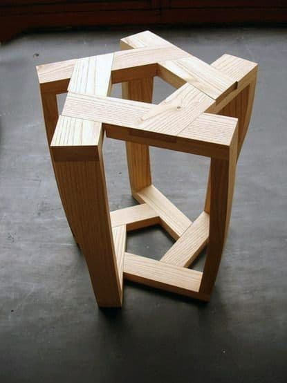 Geometric Wood Side Table Cheap Man Cave Ideas
