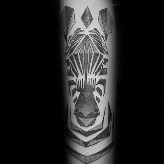 40 Zebra Tattoos For Men Safari Striped Design Ideas