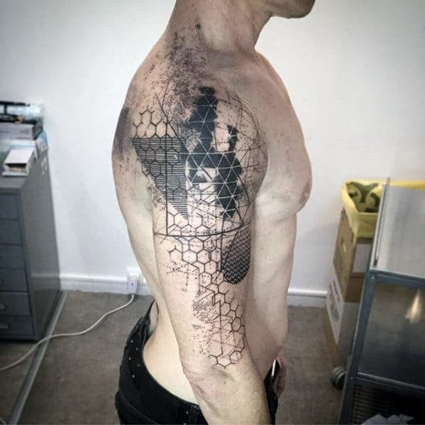 Geometrical Awesome Arm Tattoo Ideas For Men