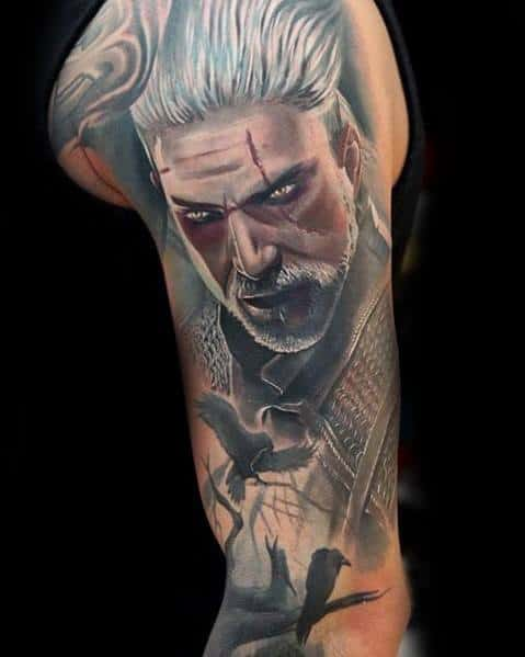 Geralt Tattoo Design Ideas For Men
