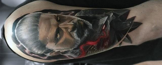 Geralt Tattoo Designs For Men