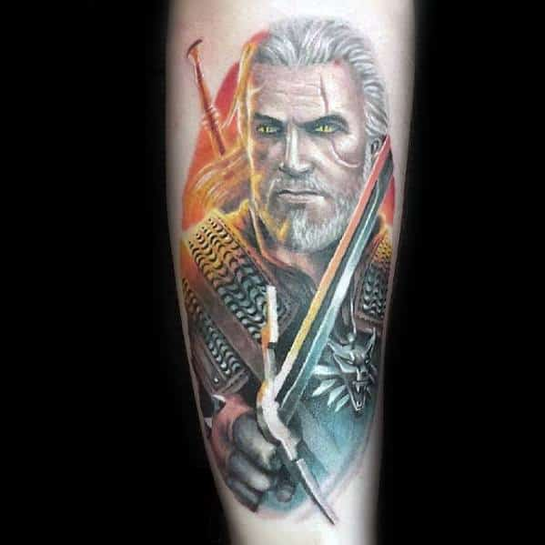 Geralt Tattoo Designs For Men