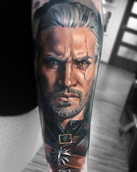 Geralt Tattoo Inspiration For Men On Forearm