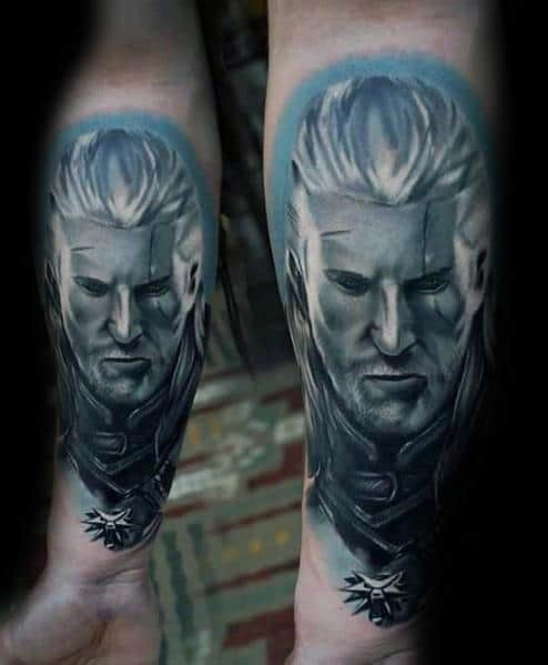Geralt Themed Tattoo Ideas For Men