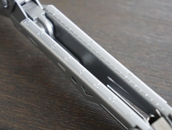 Gerber Center Drive Plus Multi Tool Integrated Inner Handle Ruler Detail
