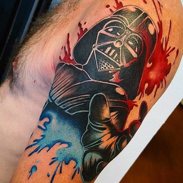 Ghost Like Star War Character Tattoo Male Arms