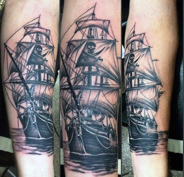 70 Ship Tattoo Ideas For Men A Sea Of Sailor Designs