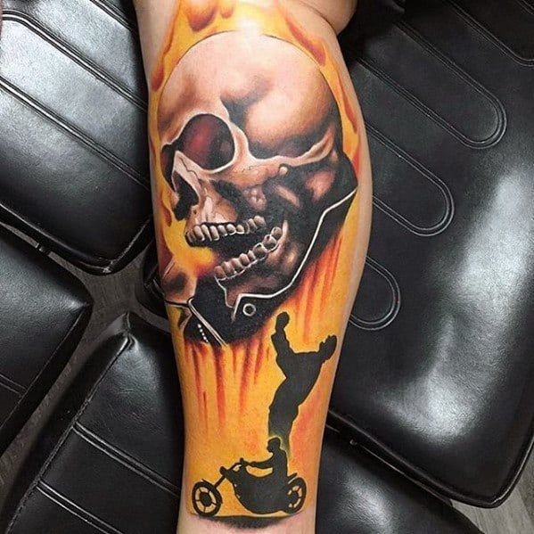 Ghost Rider Male Tattoos
