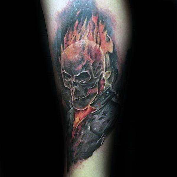 Ghost Rider Tattoo Designs For Guys