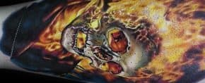 50 Ghost Rider Tattoo Designs For Men – Supernatural Antihero Ideas