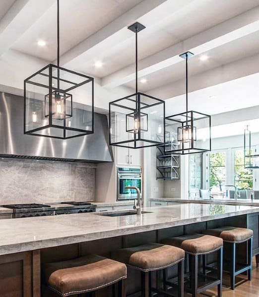 Top 50 Best Kitchen Island Lighting Ideas Interior Light Fixtures