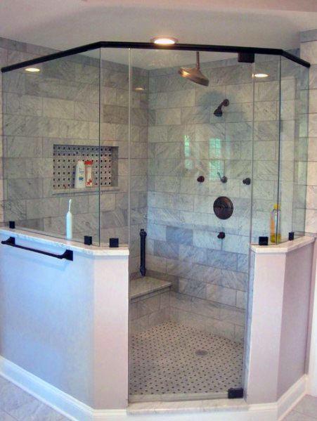 Giant Master Bathroom Luxury Corner Shower