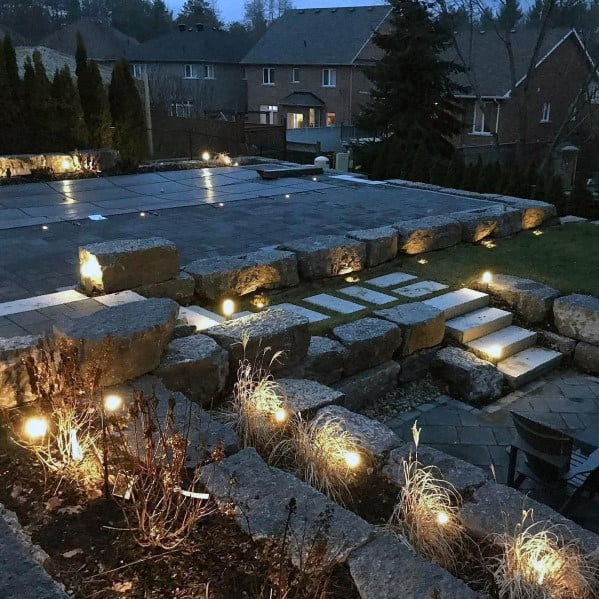Giant Stone Home Backyard Designs Pool Landscaping