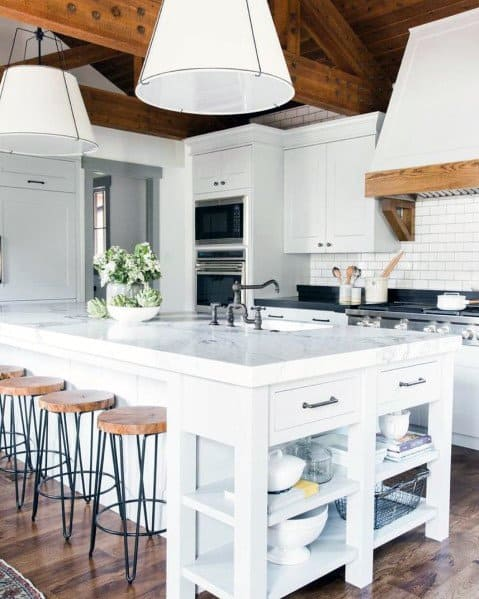 Giant White Pendants Kitchen Island Lighting Ideas