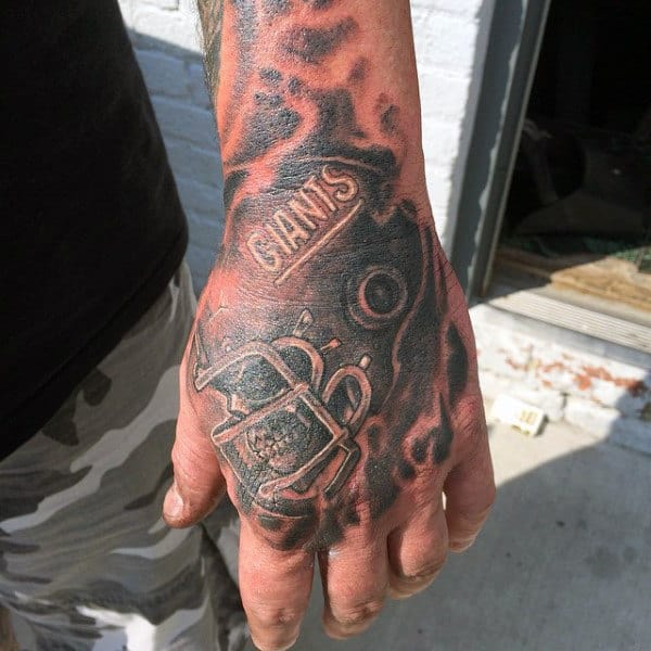 Giants Male Football Nfl Hand Tattoo