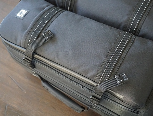 Gio Alpha Convoy 522s Travel Bag Reflective Details On Front Of Suitcase