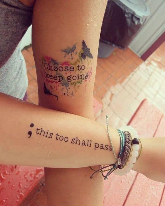 Girl Typewriter Tattoo