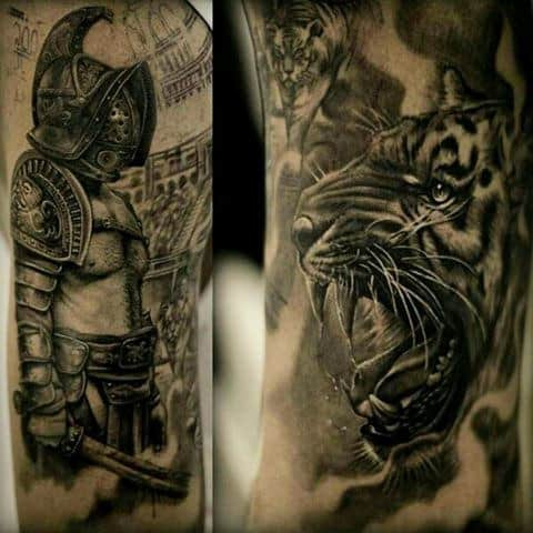 Gladiator Battle Armour Male Tattoos
