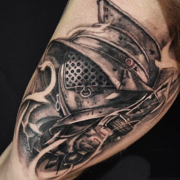 Gladiator Warrior Tattoo For Men