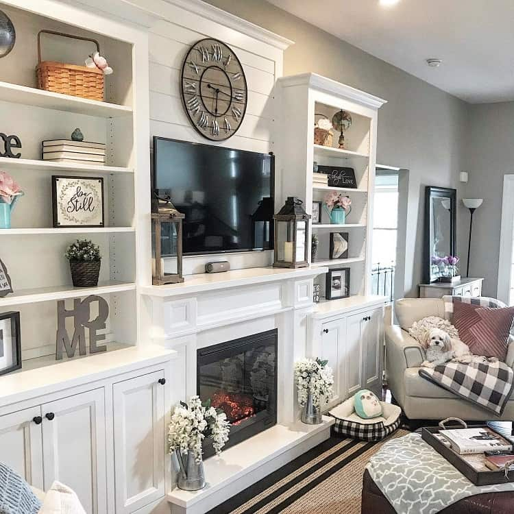 Glam White Fireplace Surround Furbabyfarmhouse