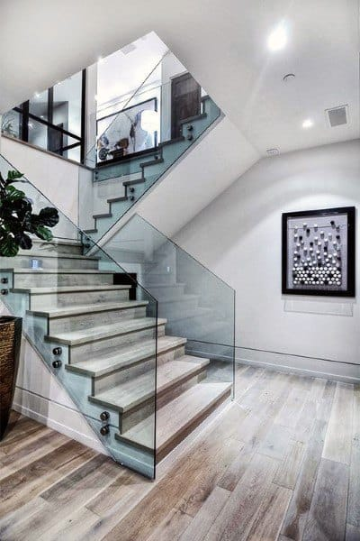 Glass And Wood Staircase Ideas For House