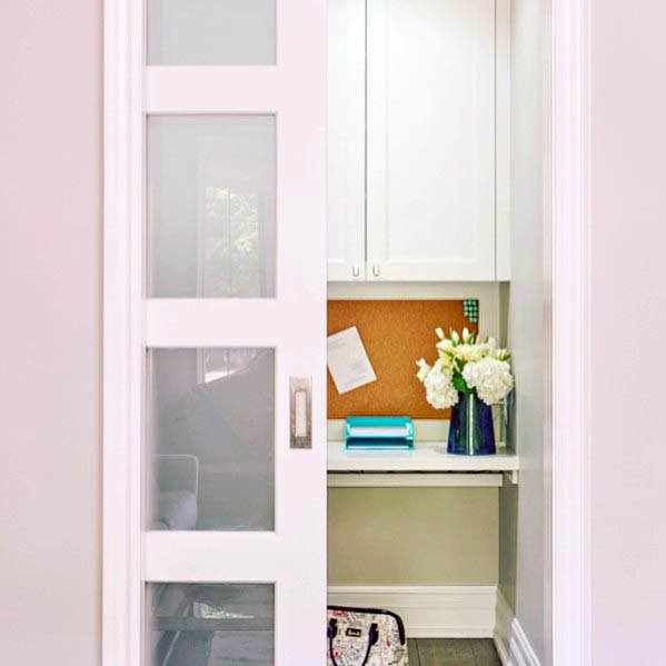 Glass And Wood White Excellent Interior Ideas Pocket Door