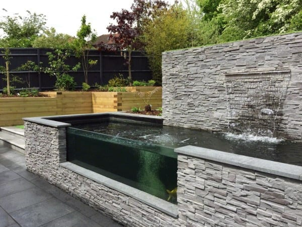 Glass Backyard Waterfalls