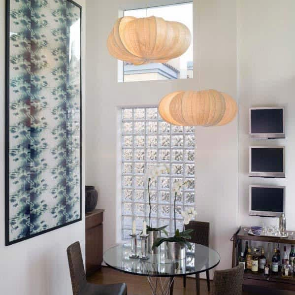 Glass Block Home Ideas In Dining Room Area