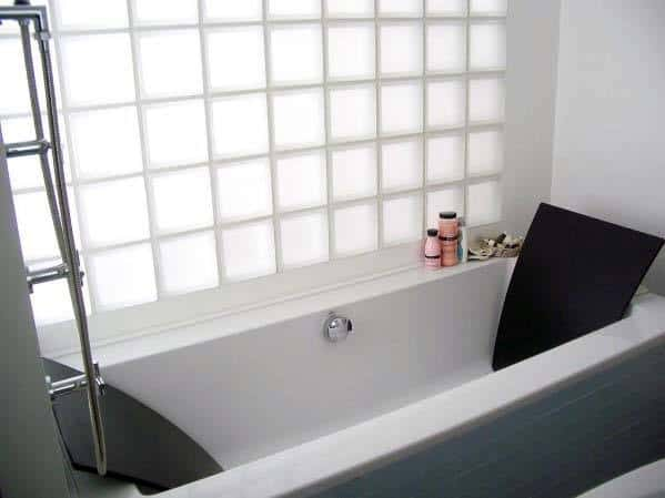 Glass Block Ideas Inspiration Above Bathtub