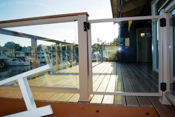Glass Deck Gate Ideas