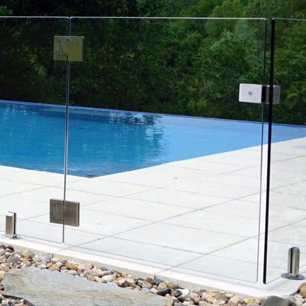 Glass Panel Gate Stunning Backyard Pool Fence Designs