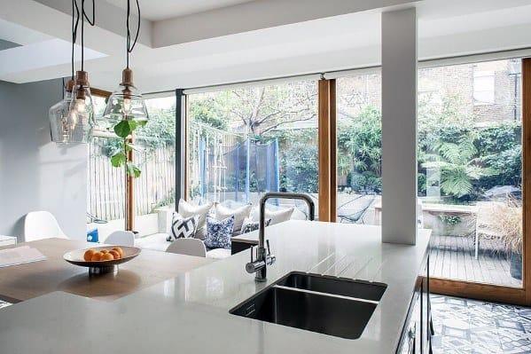 Glass Pendants House Kitchen Island Lighting Ideas