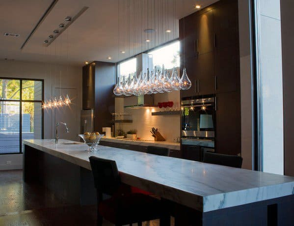 Glass Pendants Modern Kitchen Island Lighting Design Inspiration