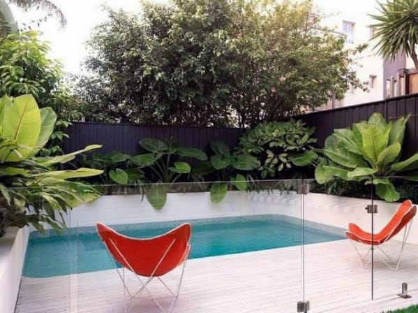 Glass Pool Fence Cool Backyard Ideas