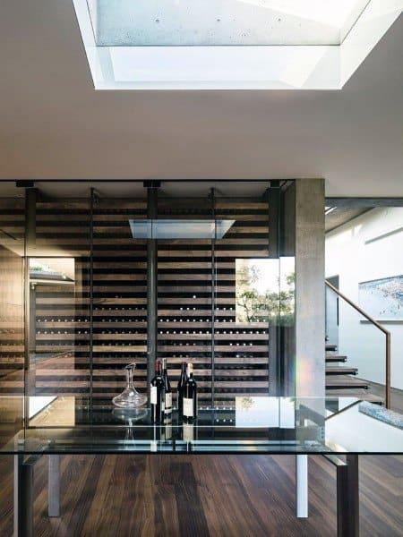 Glass Wall Wine Room Ideas