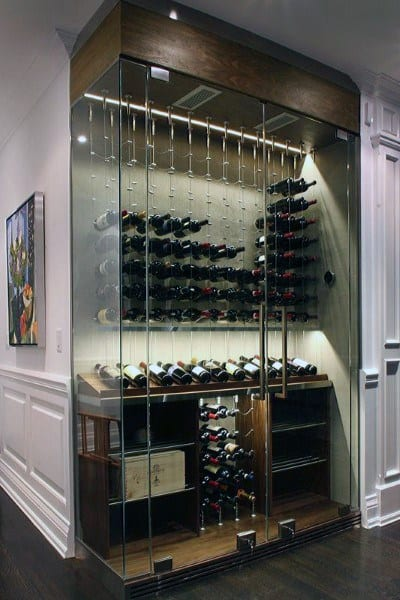 Glass Wine Cellar Design
