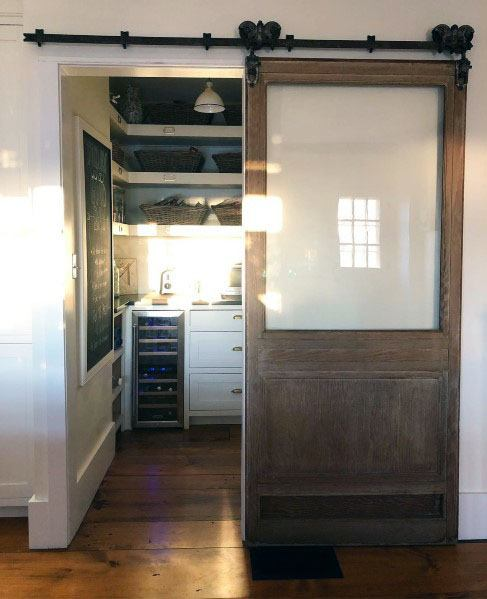 15 Kitchen Pantry Ideas With Form And Function: Top 60 Best Sliding Interior Barn Door Ideas
